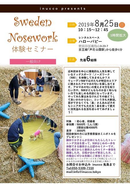北欧スタイルのノーズワークミーティング東京開催